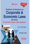 Problems and Solutions on Corporate and Economic Laws with MCQs  (CA Final - Paper 4 New Syllabus)