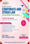Students' Guide for Corporate and Other Law (Including MCQs, for CA Inter, new syllabus, for Nov. 2021 Exams)