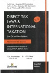 Direct Tax Laws and International Taxation - For (CA Final, Old and New Syllabus) Assessment Year 2021-22 (For Nov. 2021 Exams)