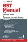 GST Manual with GST Law Guide and Digest of Landmark Rulings - 2 volumes set