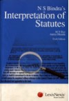 N.S. Bindra's Interpretation of Statutes (Paperback)