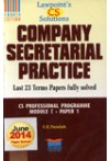 Lawpoint's CS Solutions - Company Secretarial Practice - CS Professional Programme Module I Paper 1 (Last 23 Terms Papers fully solved - June 2014 Paper Solved)