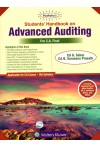 Students' Handbook on Advanced Auditing [For CA Final - Applicable for CA Exams - Old Syllabus] Covering Corporate and other Audits, SA's, Guidance Notes, and Ethics