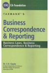 Business Correspondence and Reporting (Business Laws, Business Correspondence and Reporting) [CA] - CA - Foundation