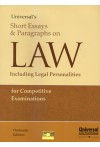 Short Essays and Paragraphs on Law (Including Legal  Personalities for Competitive Examinations)