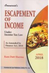 Escapement of Income Under Income Tax Law (As Amended by Finance Act, 2018)