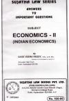 The Economics - II (Indian Economics)