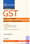 Taxmann's GST - CA-Intermediate [Paper 4 : Taxation - Section B : Indirect Taxes] As Per Old/New Syllabus - May 2019 Exam