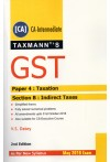 Taxmann's GST [CA] CA Intermediate - Paper 4 : Taxation - Section B : Indirect Taxes (May 2019 Exam) As Per New Syllabus