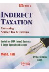 Indirect Taxation - Containing Service Tax and Customs [Useful for CMA [Inter] Students and Other Specialised Studies]