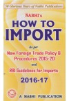 NABHIs HOW TO IMPORT As Per NEW Foreign Trade Policy and Procedures 2015-20 and  RBI Guidelines for Imports 2016-17