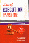 Law of Execution of Orders and Decrees