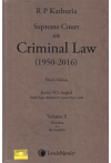 R.P. Kathuria Supreme Court on Criminal Law (1950 - 2016) (7 Volume Set)