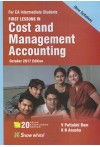 First Lessons in Cost and Management Accounting (For CA Intermediate Students) (New Syllabus)