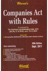 Companies Act with Rules (pocket) (As amended by The Insolvency and Bankruptcy Code, 2016) (Act No.31 of 2016), w.e.f 15-11-2016 (along with  All exemption Notifications extracted under relevant sections)