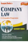 Sangeet Kedia's - COMPANY LAW - CS Executive Programme (Based on Companies Act, 2013 & Related Rules) (Incorporating all the Amendments up to June, 2017) (New Edition For Dec. 2017 Exam)
