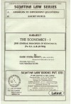 The Economics - I [The General Principles of Economics][For B.A. LL.B. (5-YDC)]