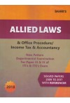 Bahri's Allied Laws and Office Procedure/Income Tax and Accountancy (New Pattern Departmental Examination for Paper III & IV of ITI'S & ITO'S Exam) (Solved Papers 2009 to 2017 with Referencer)