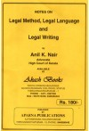 Legal Method, Legal Language and Legal Writing